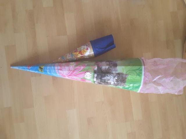 Tolle Schultüte 80 cm + Geschwistertüte 35 cm